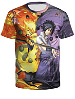 cheap -Inspired by Naruto Cosplay Costume T-shirt Polyster Print Printing T-shirt For Men's / Women's