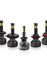Недорогие -f2 cob светодиодные автомобильные фары 9005 9006 h4 h7 h11 h1 лампочки противотуманные фары 55w 6500lm 6500k 2шт