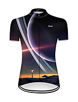 cheap -21Grams Women's Short Sleeve Cycling Jersey Nylon Polyester Black / Yellow 3D Rocket Bike Jersey Top Mountain Bike MTB Road Bike Cycling Breathable Quick Dry Ultraviolet Resistant Sports Clothing