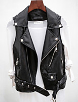 cheap -Women's Vest Daily Regular Solid Colored Black M / L / XL