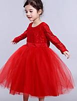 cheap -Kids' Dancewear Tutu Dress Dress Ruching Girls' Performance Polyester