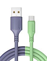 Недорогие -Kawbrown USB Type C зарядный кабель для Redmi Note 8 Samsung Быстрая зарядка 3,0 USB USB C кабель для быстрой зарядки USB Type-C провод для Huawei 1,2 м