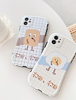 cheap -Case For Apple iPhone 7 8 7plus 8plus X XR XS XSMax SE(2020) iPhone 11 11Pro 11ProMax Shockproof  Pattern Back Cover Word  Phrase Food Cartoon TPU