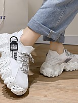 cheap -Women's Trainers / Athletic Shoes Summer Flat Heel Round Toe Daily Mesh White / Black