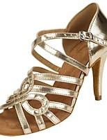 cheap -Women's Dance Shoes Latin Shoes Heel Cuban Heel Gold / Performance