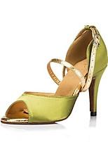 cheap -Women's Dance Shoes Latin Shoes Heel Cuban Heel Green / Performance
