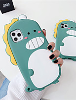 cheap -3D Cartoon Cute Dinosaur Soft TPU Phone Case For iPhone X XR XS 11 Pro Max 6 6S 7 8 Plus se 2020 Holder Stand Cover Gift