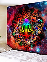 cheap -3D Chakra Tapestry Ombre Galaxy Psychedelic Tapestry Boho Decor Mandala Tapestry Wall Hanging Hippie Tapestries Yoga Mat Cool