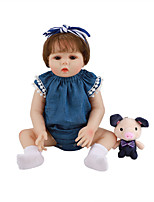 cheap -FeelWind 18 inch Reborn Doll Baby & Toddler Toy Reborn Toddler Doll Baby Girl Gift Cute Lovely Parent-Child Interaction Tipped and Sealed Nails Full Body Silicone LV006 with Clothes and Accessories