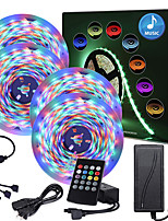 cheap -ZDM 65ft  4x5 Meter Music Synchronous Happy Multicolour Light Strip 2835 RGB Waterproof LED Flexible Light Strip with 20 key IR Controller Optional with Adapter Kit DC12V