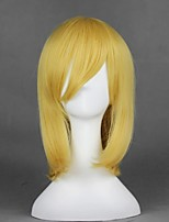 cheap -Cosplay Wig Alice Margatroid TouHou Project Straight Cosplay Halloween With Bangs Wig Medium Length Blonde Synthetic Hair 18 inch Women's Anime Cosplay Easy to Carry Blonde