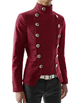 cheap -Plague Doctor Vintage Gothic Steampunk Masquerade Tuxedo Men's Slim Fit Costume White / Black / Red Vintage Cosplay Event / Party Long Sleeve / Coat