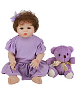 cheap -FeelWind 18 inch Reborn Doll Baby & Toddler Toy Reborn Toddler Doll Baby Girl Gift Cute Lovely Parent-Child Interaction Tipped and Sealed Nails Full Body Silicone LV056 with Clothes and Accessories