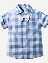 cheap -Toddler Boys' Street chic Plaid Short Sleeve Shirt Light Blue