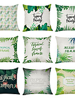 cheap -9 pcs Linen Pillow Cover, Tropical Summer Casual Modern Square Traditional Classic