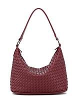 cheap -Women's Zipper PU Top Handle Bag Leather Bags Solid Color Wine / Black / Blue