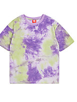 cheap -Kids Boys' Street chic Tie Dye Short Sleeve Tee Purple