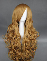 cheap -Cosplay Wig Taiga Aisaka Curly Cosplay Asymmetrical Wig Very Long Blonde Synthetic Hair 36 inch Women's Anime Cosplay Sexy Lady Blonde