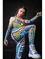 cheap -Zentai Suits Catsuit Skin Suit Adults Cosplay Costumes Ultra Sexy Women's Novelty Printing Halloween Masquerade