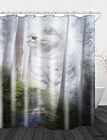 cheap -Forest Trail Digital Print Waterproof Fabric Shower Curtain for Bathroom Home Decor Covered Bathtub Curtains Liner Includes with Hooks
