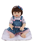 cheap -FeelWind 18 inch Reborn Doll Baby & Toddler Toy Reborn Toddler Doll Baby Girl Gift Cute Lovely Parent-Child Interaction Tipped and Sealed Nails Full Body Silicone LV017 with Clothes and Accessories