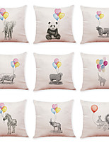 cheap -9 pcs Linen Pillow Cover, Animal Leisure Modern Square Traditional Classic