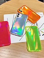 cheap -Solid Colored florescent Light TPU for Apple iPhone Case 11 Pro Max X XR XS Max 8 Plus 7 Plus SE(2020) Protection Cover