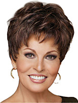 cheap -Synthetic Wig kinky Straight Pixie Cut Wig Short Light Brown Synthetic Hair 12 inch Women's Simple Life Classic Light Brown