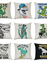 cheap -9 pcs Linen Pillow Cover, Dinosaur JurassicCasual Modern Square Traditional Classic
