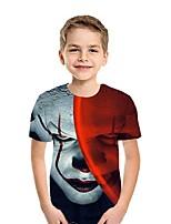 cheap -Kids Boys' Street chic 3D Short Sleeve Tee Red