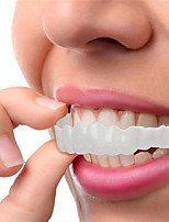 cheap -Silicone Teeth Whitening Teeth Cover Teeth Braces Simulation Denture Upper Lower Teeth Set Perfect Smile Teeth