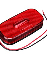 cheap -12-24V LED Oblong Side Marker Lights Car Caravan RV Clearance Indicator Lamp Red