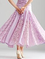 cheap -Ballroom Dance Skirts Split Joint Women's Performance Lace