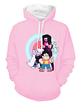 cheap -Inspired by steven universe Cosplay Costume Hoodie Polyster Print Printing Hoodie For Men's / Women's