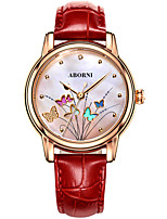 cheap -Women's Quartz Watches Casual Elegant Genuine Leather Quartz White Red Blushing Pink Water Resistant / Waterproof Analog
