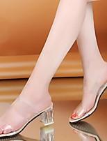 cheap -Women's Slippers & Flip-Flops Summer Pumps Open Toe Daily PU Almond / Beige