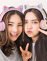 cheap -LED Cat Ear Headphones Bluetooth 5.0 kids Headset Support TF Card 3.5mm Plug With Mic