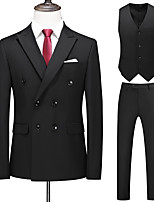 cheap -Tuxedos Tailored Fit / Standard Fit Peak Double Breasted Two-buttons / Double Breasted Four-buttons Cotton Blend / Cotton / Polyester Solid Colored