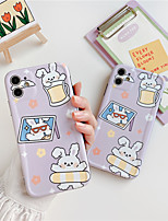 cheap -Cute Rabbit Transparent Phone Case For iphone XS Max 7 8 plus X XR XS Max se 2020 11 Pro Max Cover Fashion Cute Silicone Back Cases Capa
