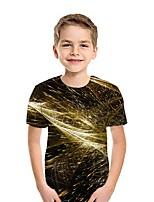 cheap -Kids Boys' Street chic 3D Short Sleeve Tee Yellow