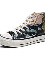cheap -Men's Spring / Fall Classic / Casual / Vintage Daily Sneakers Canvas Non-slipping White / Black Camouflage