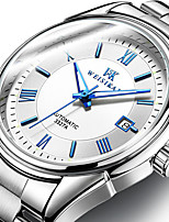 cheap -WEISIKAI Men's Mechanical Watch Automatic self-winding Modern Style Stylish Cool Water Resistant / Waterproof Stainless Steel Analog - Black+Gloden White+Golden White+Sky Blue / Calendar / date / day