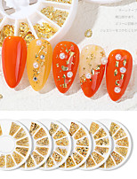cheap -Manicure Accessories Rivet Metal RingDIY Nail Decoration Small Round Box Manicure