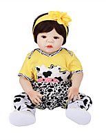 cheap -FeelWind 22 inch Reborn Doll Baby & Toddler Toy Reborn Toddler Doll Baby Girl Gift Cute Lovely Parent-Child Interaction Tipped and Sealed Nails Full Body Silicone with Clothes and Accessories for