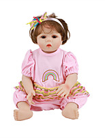 cheap -FeelWind 18 inch Reborn Doll Baby & Toddler Toy Reborn Toddler Doll Baby Girl Gift Cute Lovely Parent-Child Interaction Tipped and Sealed Nails Full Body Silicone LV011 with Clothes and Accessories