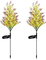 cheap -New Solar Garden Lights Outdoor Lights Pine And Cypress Trees 8LED Lights Lawn Lights Floor Lights Outdoor Christmas Decorative Lights 2PCS