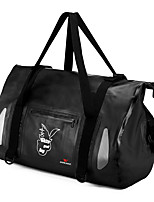 cheap -WOSAWE 20-35 L Rucksack Rain Waterproof Outdoor Hiking Motobike / Motorcycle Gym Workout PU Leather Black+Sliver