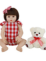 cheap -FeelWind 18 inch Reborn Doll Baby & Toddler Toy Reborn Toddler Doll Baby Girl Gift Cute Lovely Parent-Child Interaction Tipped and Sealed Nails Full Body Silicone LV047 with Clothes and Accessories