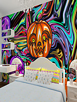 cheap -Wall Covering Custom Self Adhesive Mural Ghost Festival Pumpkin Creative Castle Children Cartoon Style Suitable For Bedroom