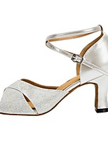 cheap -Women's Dance Shoes Latin Shoes Heel Cuban Heel Silver / Performance